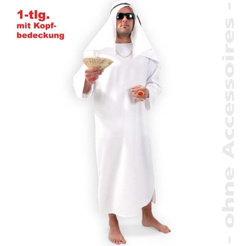 fasching scheich 1 tlg kost m mit kopfbedeckung gr xxl. Black Bedroom Furniture Sets. Home Design Ideas