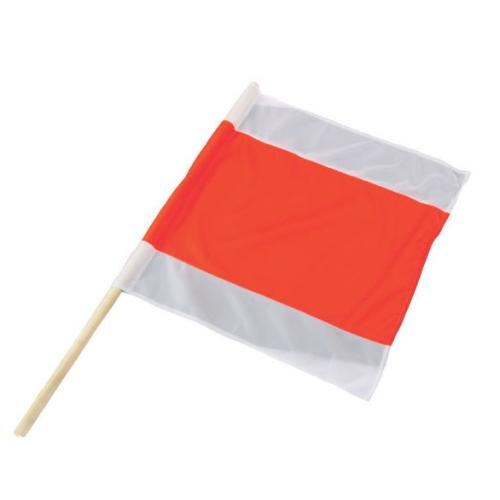 Weiß Rot Blaue Flagge: Warnflagge Flagge Warnfahne Fahne Rot Weiss Schneepflug