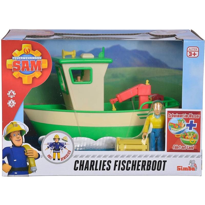 simba feuerwehrmann sam charlies fischerboot mit figur 19
