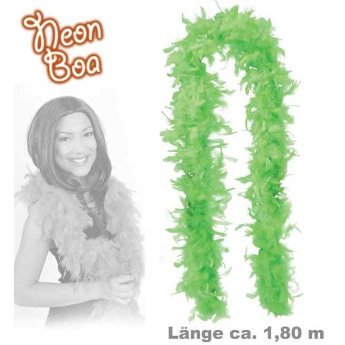 Fasching Federboa Boa Neon Grun Ca 1 80 M Lang 7 99