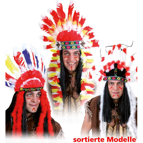 Fasching Indianer Kopfschmuck Sortierte Modelle 9 99