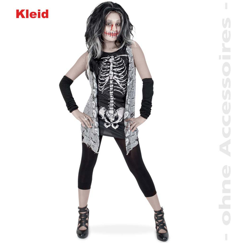 Fasching Zombie Girl Kleid Grosse 164 Halloween Kostum
