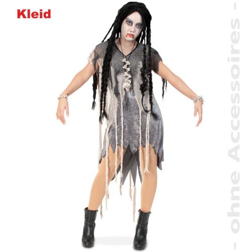 9741edba76162e Fasching Halloween Zombie Kleid Kostüm Damen Größe 42 Karneval ...