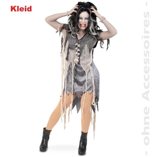 83ee69ff133e40 ... Fasching Halloween Zombie Kleid Kostüm Damen Größe 42 Karneval ...