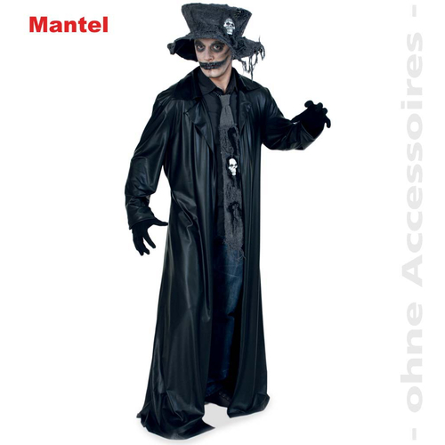 Fasching Halloween Mantel Black Coat Dracula Vampir Grosse