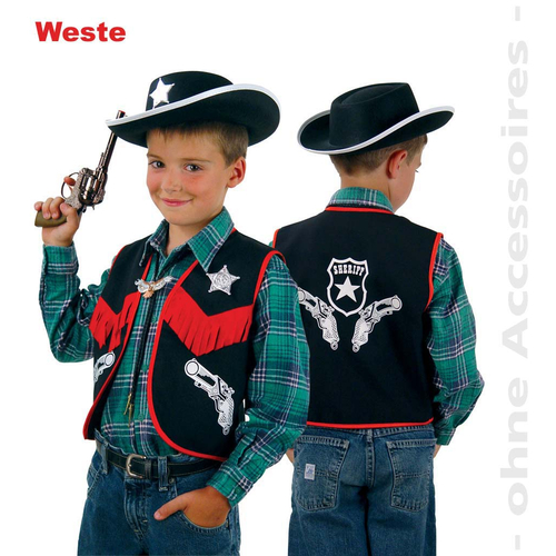 Fasching Karneval Cowboy Weste Sheriff Gr 104 10 99