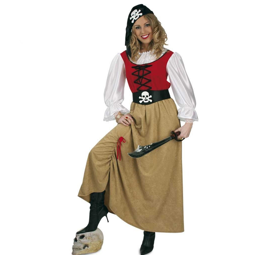 Fasching Piratin Kleid Mit Gurtel Piratenbraut Gr 46 29 99 Eu